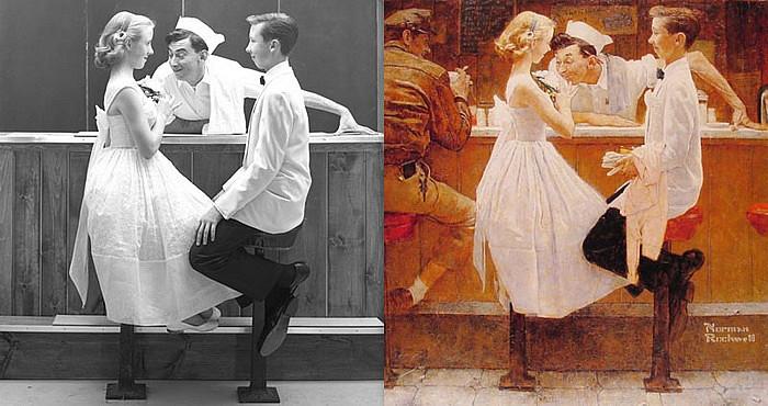 Пример 2: иллюстрация Нормана Роквелла по фотографии