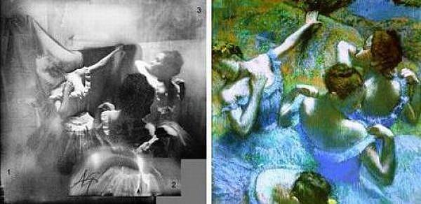 Сопоставление фотографии и картины Эдгара Дега