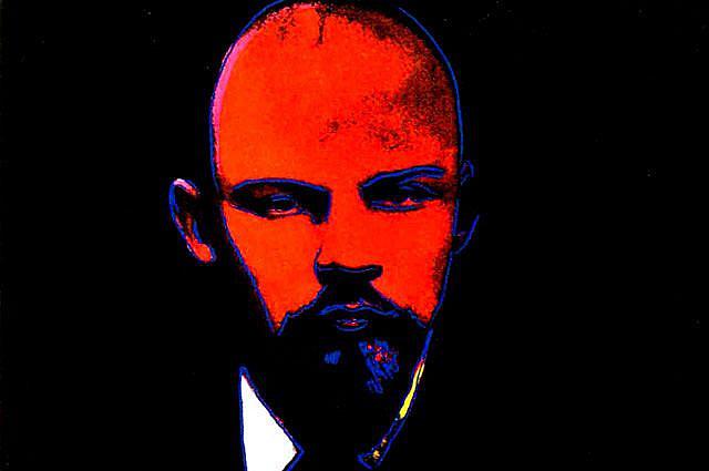 Энди Уорхолл: портрет Ленина, написанный по фотографии