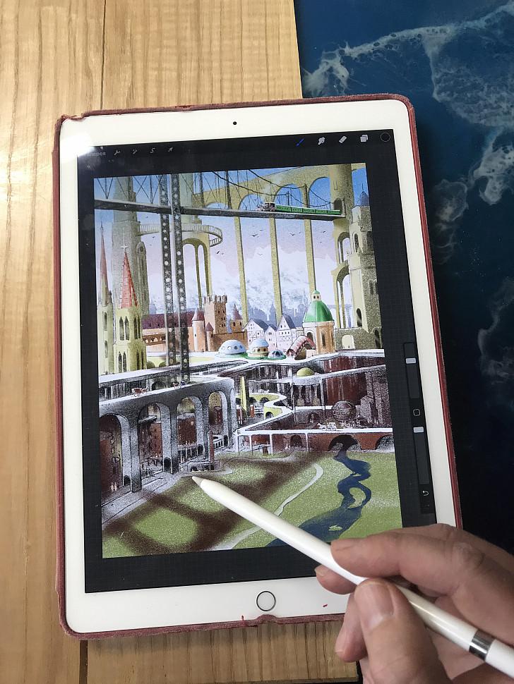 иллюстрация, нарисованная на iPad с помощью Apple Pencil